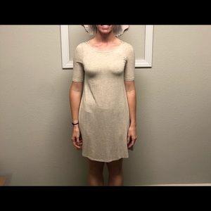 Knee Length Cream Colored Dress